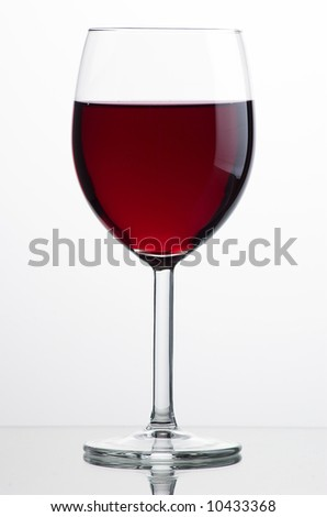 Glass of wine - stock photo