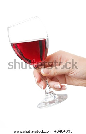 glass of wine in hand