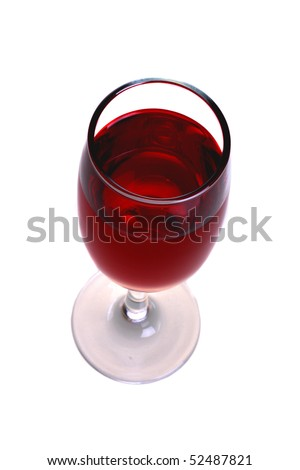 Glass of wine. Isolated object on a white background - stock photo