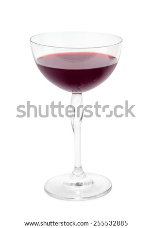 glass of wine isolated on white - stock photo