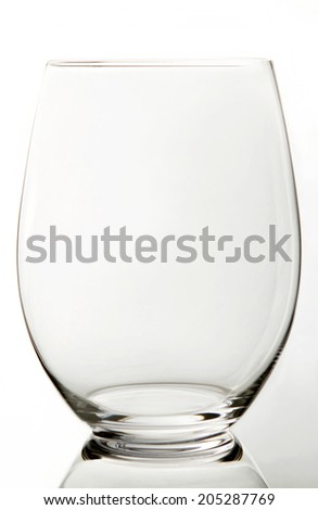 Glass of wine on a white background in the studio