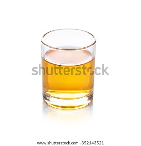 glass of wiskey on white background