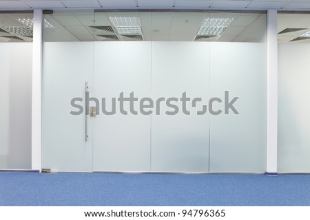 glass office door - stock photo