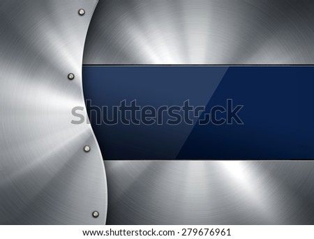 glass on metal plate - stock photo