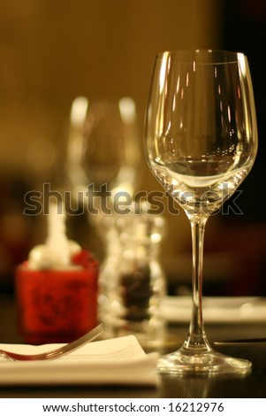 glass on table - stock photo