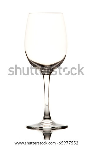 Glass on white