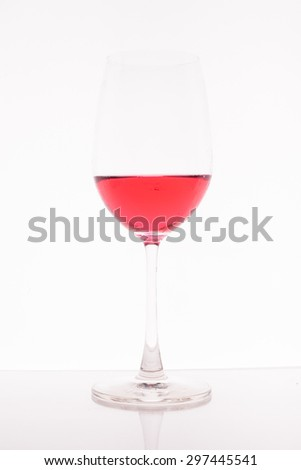 Glass on white background