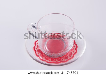 Glass or tea glass cup on a background