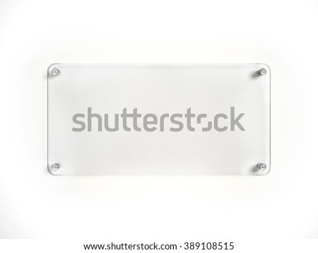 Glass plate mock up - stock photo