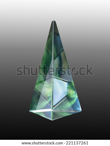 glass prism reflection - stock photo