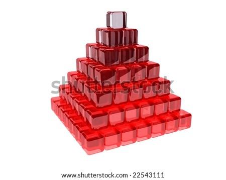 Glass pyramid - stock photo