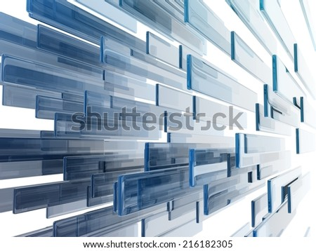 glass rectangles on white background.
