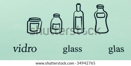 glass recycle symbols/pictures