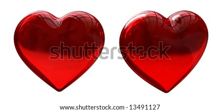 Glass Red Heart - stock photo
