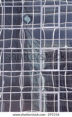 Glass Reflection Ottawa Canada - stock photo