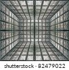 glass room wall using as background without copyspace - stock photo