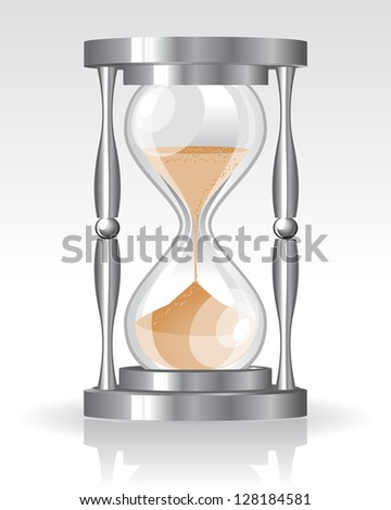 Glass sand clock. Raster version. Vector is also available in my gallery - stock photo