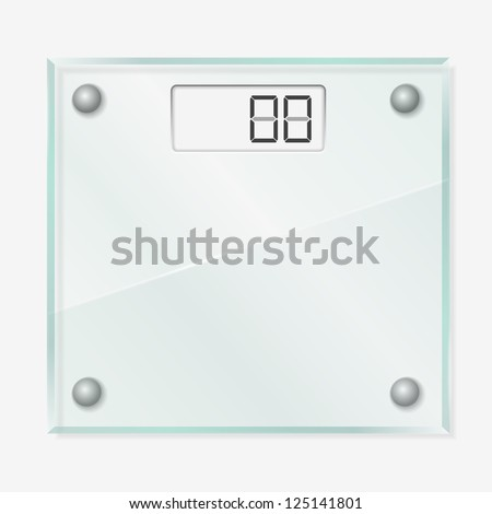 Glass Scales - stock photo