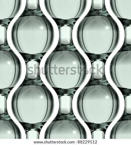 Glass seamless pattern, 3D. - stock photo