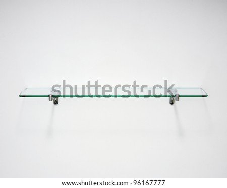 Glass shelf - stock photo