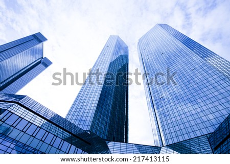 Glass skyscrapers,business center  - stock photo
