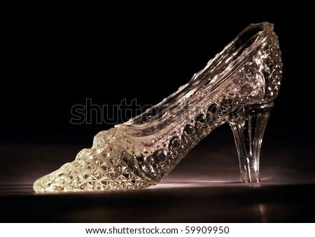 Glass Slipper - stock photo