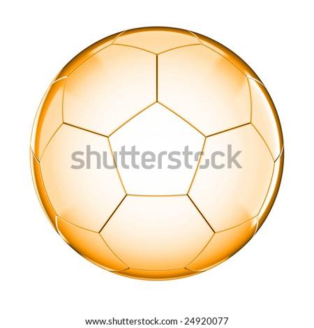 Glass soccer ball on white background - stock photo