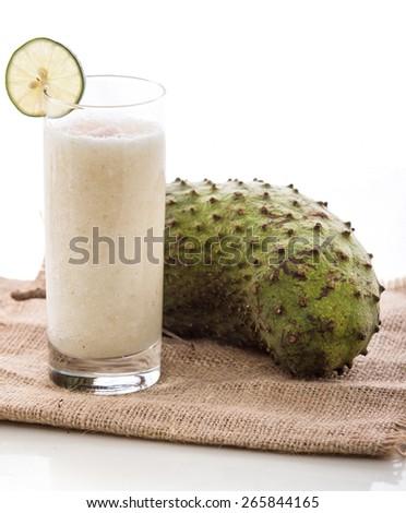 glass soursop juice - stock photo