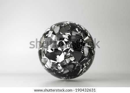 glass sphere design on white background