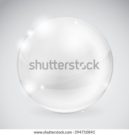 Glass sphere.   illustration. Raster version