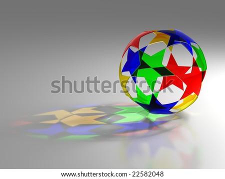 Glass star ball - stock photo