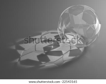 Glass star ring - stock photo