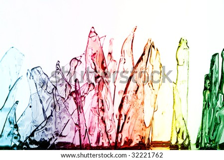 Glass texture colorful - stock photo