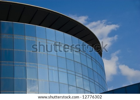 glass tower - corporate building - stock photo