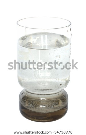 glass under the white background