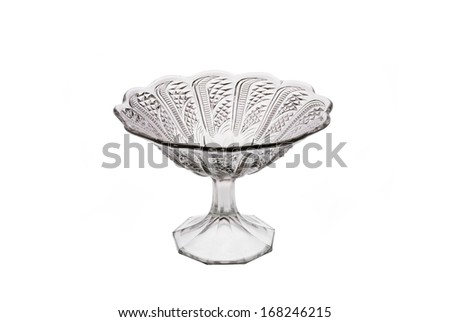 Glass vase for fruit - stock photo