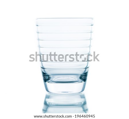 Glass water clear isolate on over white background