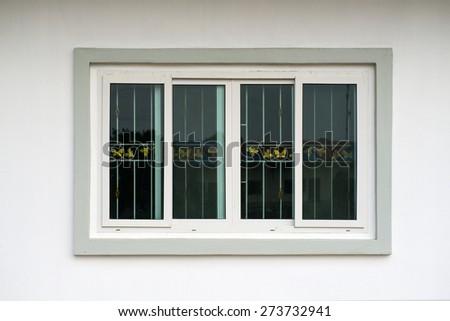 Glass window frame - stock photo