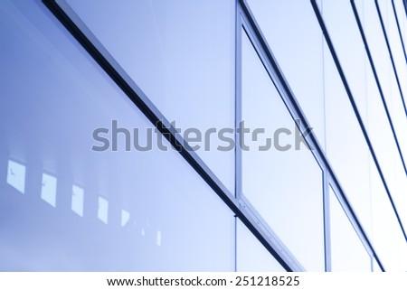glass windows background - stock photo