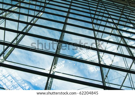 Glass windows centre business - stock photo