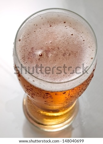 Glass with beer - stock photo