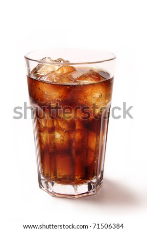 Glass with cola - stock photo