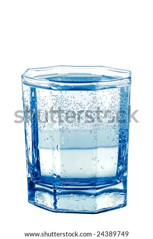 Glass with mineral water