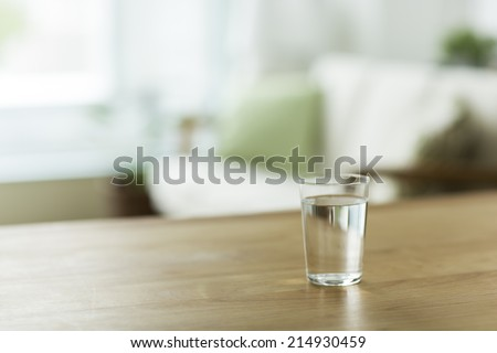 Glass with the water - stock photo