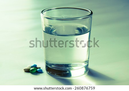 glass with water isolated image - stock photo