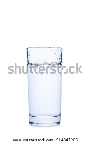 Glass with water isolated on a white