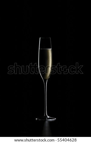 glass with wine - stock photo