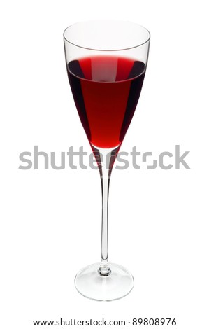 Glass with wine isolated on white