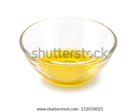 glassdish with butter - stock photo