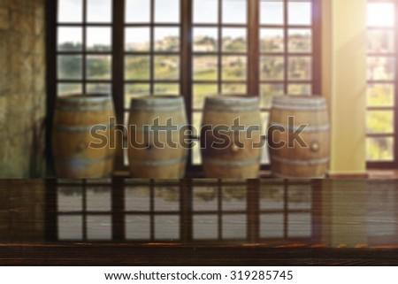 glasses board and window of sun  - stock photo